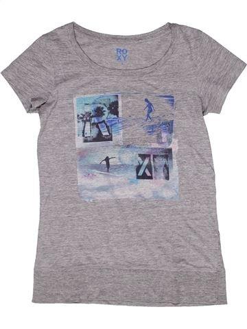 T-shirt manches courtes fille ROXY gris 8 ans été #1269049_1