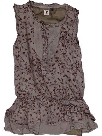 Vestido niña IKKS marrón 2 años verano #1269317_1