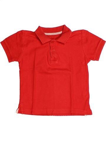 Polo manches courtes garçon MONOPRIX rouge 4 ans été #1269396_1