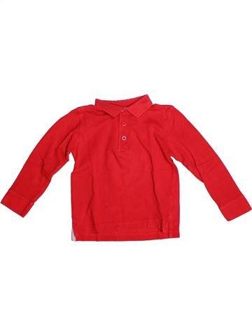Polo manches longues garçon DPAM rouge 4 ans hiver #1269411_1