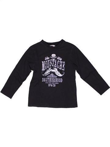 T-shirt manches longues garçon 3 POMMES noir 6 ans hiver #1269607_1