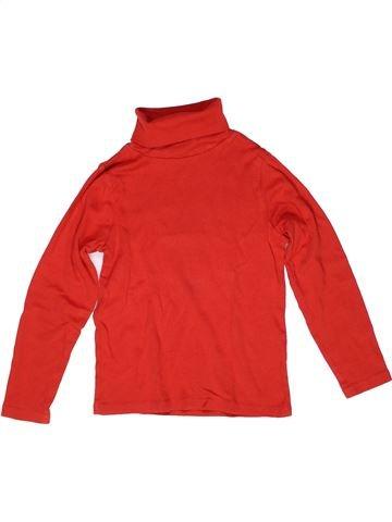 Camiseta de cuello alto niño LA REDOUTE CRÉATION rojo 8 años invierno #1269813_1