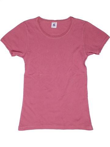 T-shirt manches courtes fille PETIT BATEAU rose 12 ans été #1270159_1