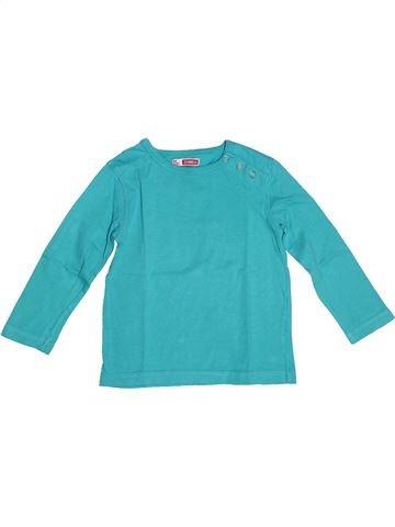 T-shirt manches longues fille DPAM bleu 2 ans hiver #1270463_1