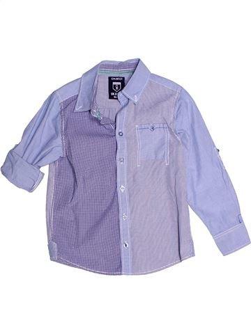 Camisa de manga larga niño OKAIDI violeta 6 años invierno #1270471_1