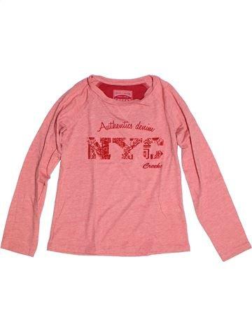 T-shirt manches longues fille CREEKS rose 8 ans hiver #1270706_1