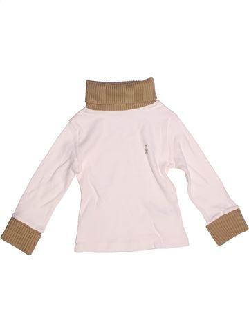 T-shirt col roulé garçon OKAIDI blanc 2 ans hiver #1270907_1
