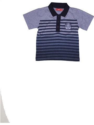 Polo manches courtes garçon TISSAIA bleu 6 ans été #1271234_1