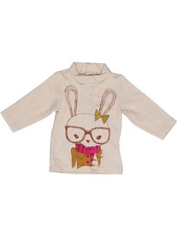 T-shirt col roulé fille KIABI bleu 3 mois hiver #1271402_1