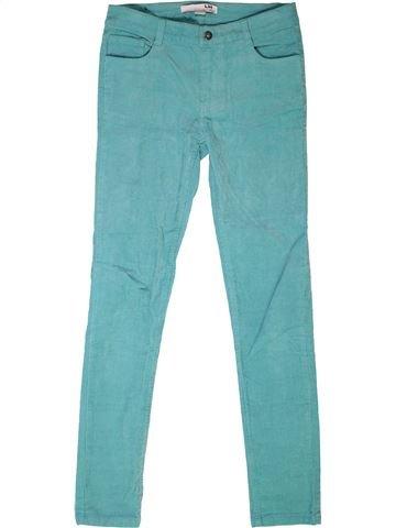 Pantalon fille LH BY LA HALLE bleu 12 ans hiver #1271961_1