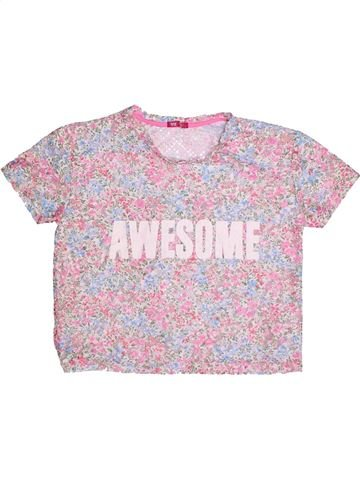 T-shirt manches courtes fille YOUNG DIMENSION rose 13 ans été #1272280_1