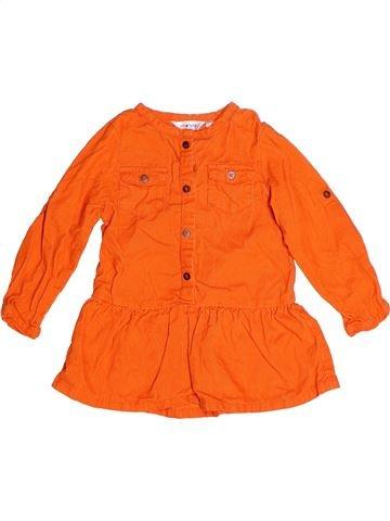 Vestido niña KIABI naranja 2 años invierno #1272530_1