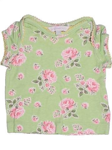 T-shirt manches courtes fille JOHN LEWIS beige naissance été #1272714_1