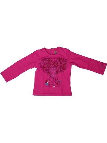 Camiseta de manga larga niña JEAN BOURGET rosa 2 años invierno #1272734_1