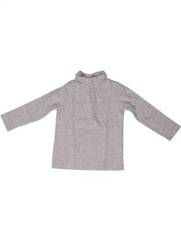 T-shirt col roulé fille BOUT'CHOU gris 2 ans hiver #1272754_1