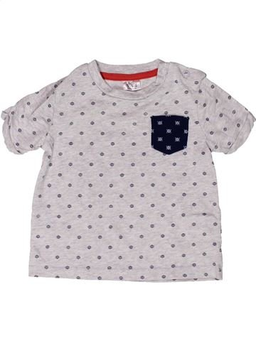 T-shirt manches courtes garçon F&F blanc 9 mois été #1272962_1