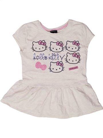 T-shirt manches courtes fille HELLO KITTY blanc 9 ans été #1273119_1