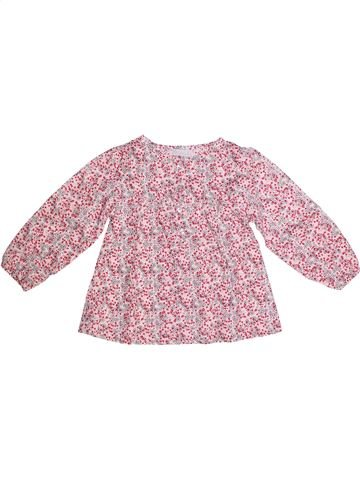 Blouse manches longues fille KIMBALOO rose 3 ans hiver #1273196_1