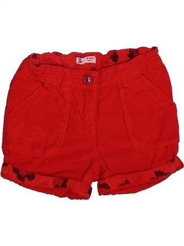 Short - Bermuda fille DPAM rouge 4 ans été #1273252_1