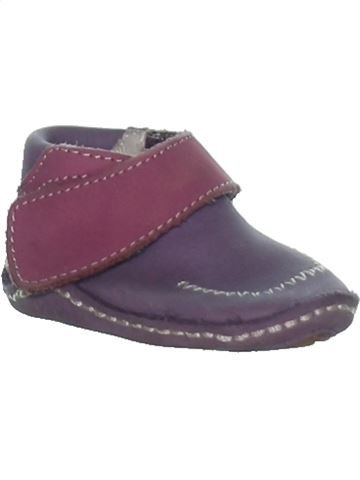 Chaussures à scratch fille KICKERS gris 3 mois hiver #1273284_1