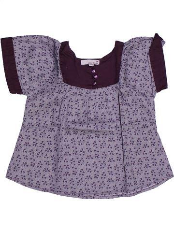 Blouse manches courtes fille LISA ROSE violet 3 ans été #1273317_1