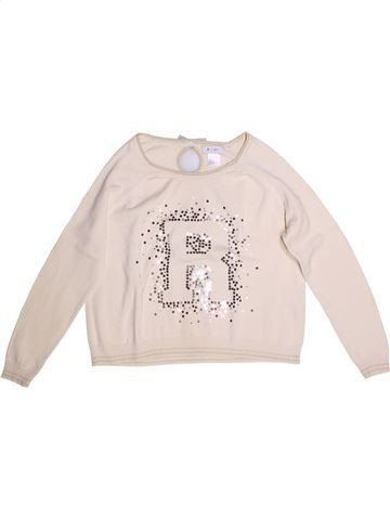 Pull fille LA REDOUTE CRÉATION blanc 14 ans hiver #1273350_1