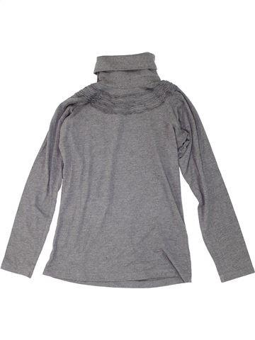 Camiseta de cuello alto niña ZARA gris 14 años invierno #1274013_1