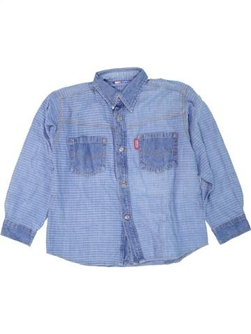 Chemise manches courtes garçon ORIGINAL MARINES bleu 8 ans été #1274082_1