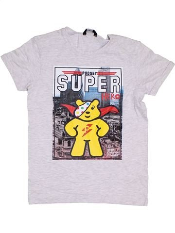 T-shirt manches courtes garçon GEORGE gris 11 ans été #1275454_1