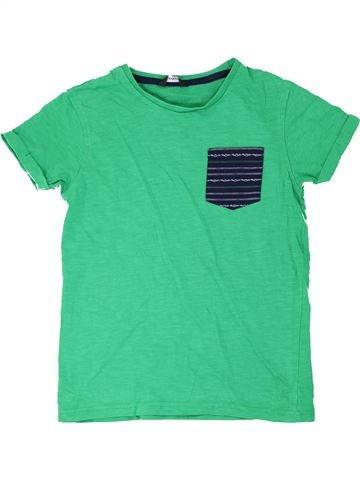 T-shirt manches courtes garçon GEORGE vert 10 ans été #1275937_1