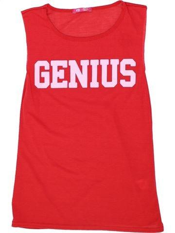 T-shirt sans manches fille PRIMARK rouge 11 ans été #1276365_1