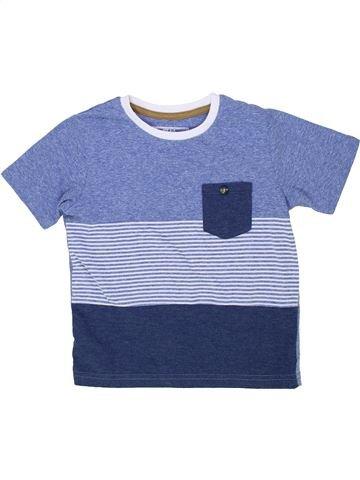 T-shirt manches courtes garçon MATALAN bleu 5 ans été #1276394_1