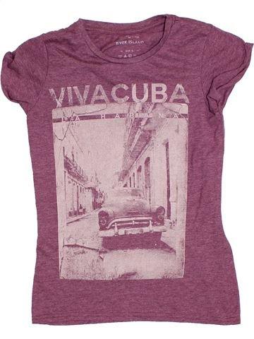 T-shirt manches courtes garçon RIVER ISLAND violet 8 ans été #1276801_1