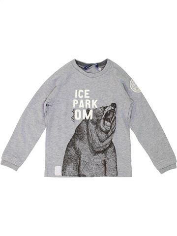 T-shirt manches longues garçon ORIGINAL MARINES gris 4 ans hiver #1277005_1