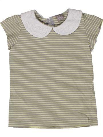 T-shirt manches courtes fille TU gris 12 mois été #1277635_1