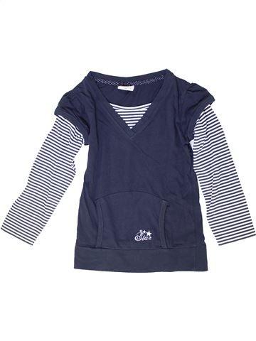 T-shirt manches longues fille YIGGA bleu 8 ans hiver #1278088_1