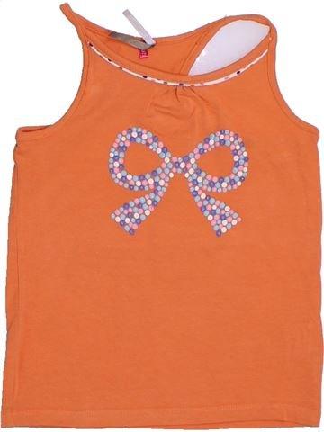 T-shirt sans manches fille ORCHESTRA orange 5 ans été #1278398_1