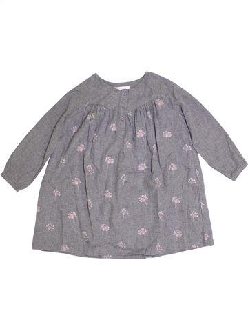Vestido niña MONOPRIX gris 6 años invierno #1278447_1