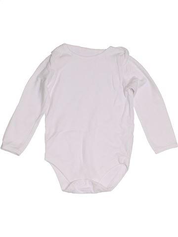 T-shirt manches longues unisexe JOHN LEWIS blanc 2 ans hiver #1279558_1