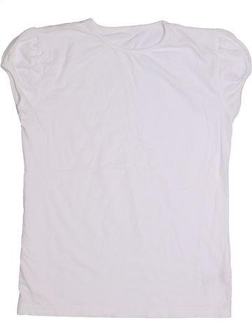 T-shirt manches courtes fille GEORGE blanc 15 ans été #1284121_1