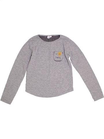 T-shirt manches longues fille TAPE À L'OEIL gris 8 ans hiver #1284711_1