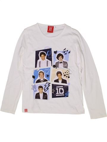 T-shirt manches longues fille ONE DIRECTION blanc 8 ans hiver #1284767_1