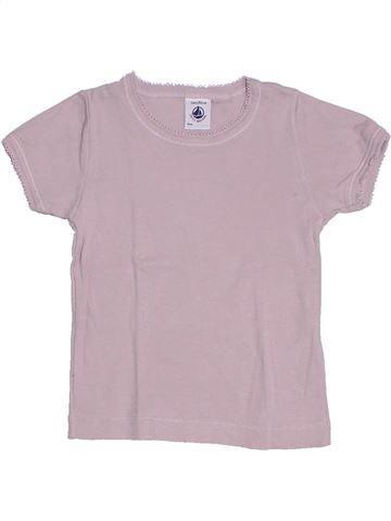 T-shirt manches courtes fille PETIT BATEAU gris 2 ans été #1284784_1