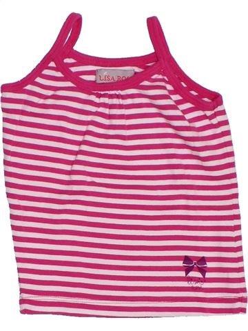 T-shirt sans manches fille LISA ROSE rose 3 ans été #1285309_1
