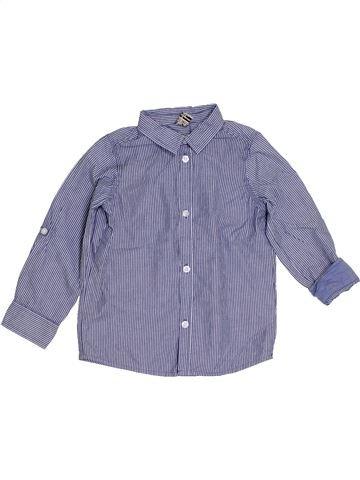 Chemise manches longues garçon TAPE À L'OEIL bleu 4 ans hiver #1285510_1