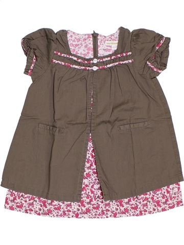 Vestido niña VERTBAUDET marrón 2 años verano #1285579_1