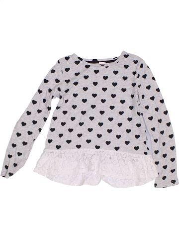 T-shirt manches longues fille H&M blanc 8 ans hiver #1286377_1
