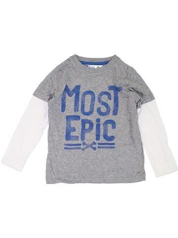 T-shirt manches longues garçon M&CO gris 7 ans hiver #1286614_1