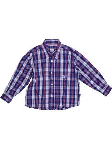 Chemise manches longues garçon BLUKIDS violet 3 ans hiver #1288852_1
