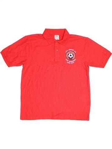 Polo manches courtes garçon FRUIT OF THE LOOM rouge 13 ans été #1289703_1